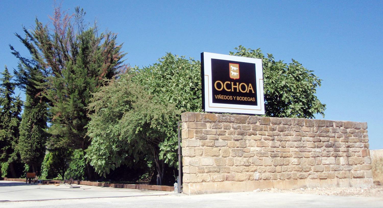 Bodegas Ochoa - Diseño y Rotulación de fachadas - Curva Rotulación Integral Pamplona