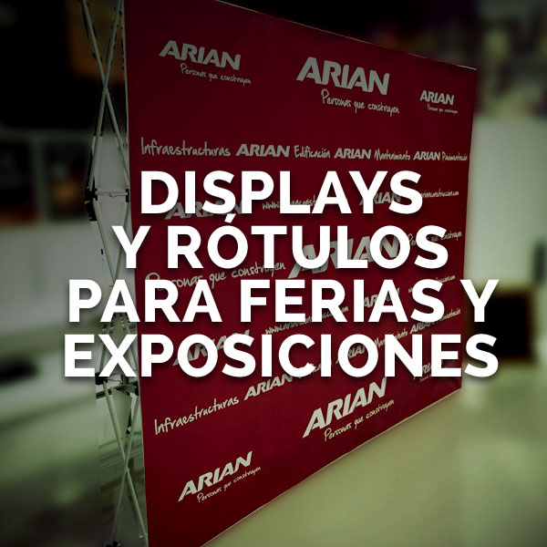 Displays ferias y congresos - Curva Rotulación Integral Pamplona
