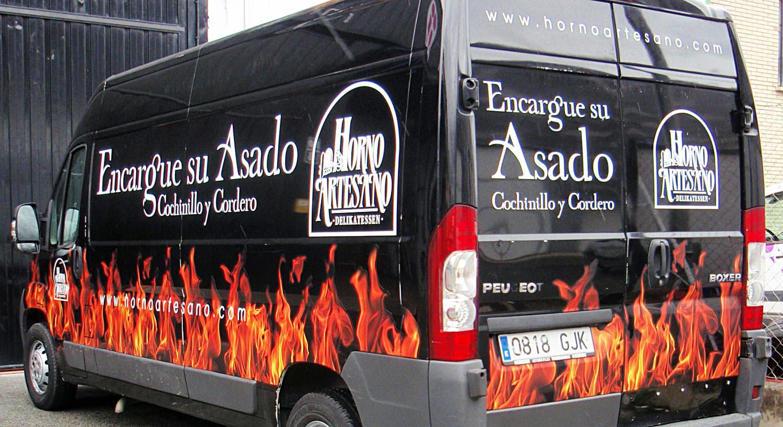Horno Artesano - Diseño y Rotulación de vehículos - Curva Rotulación Integral Pamplona
