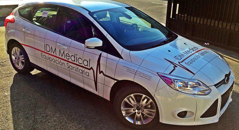 IDM Medical - Diseño y Rotulación de vehículos - Curva Rotulación Integral Pamplona