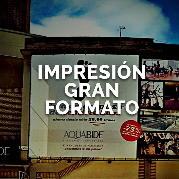 Impresión gran formato - Curva Rotulación Integral Pamplona