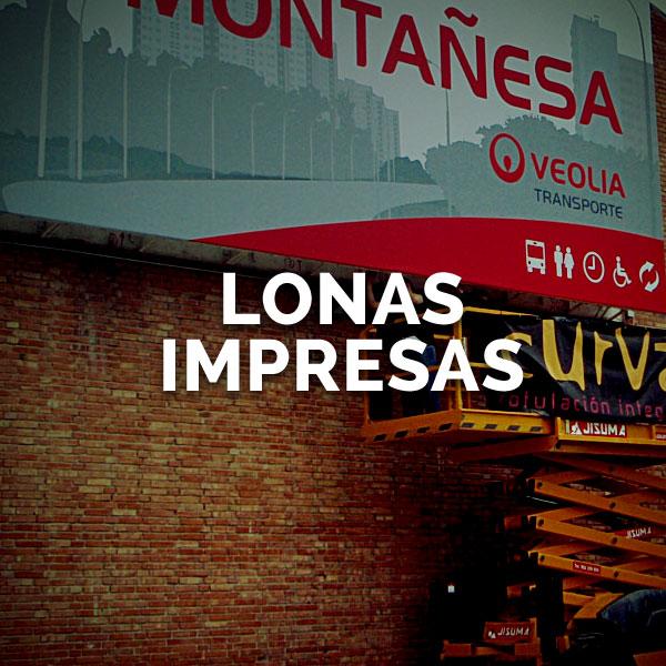 Lonas impresas - Curva Rotulación Integral Pamplona