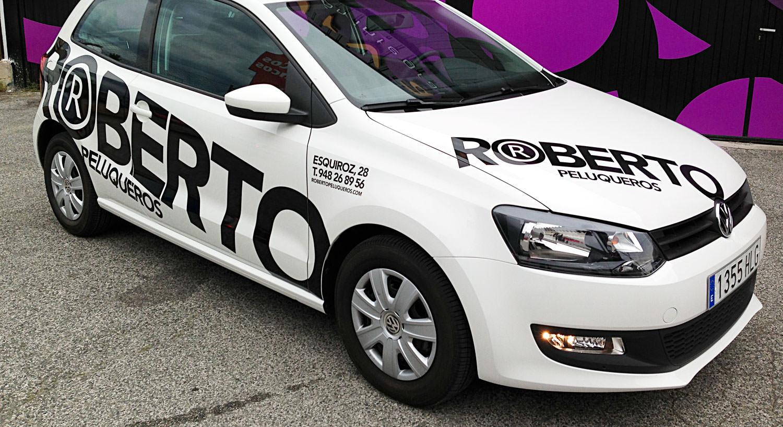 Roberto Peluqueros - Diseño y Rotulación de vehículos - Curva Rotulación Integral Pamplona