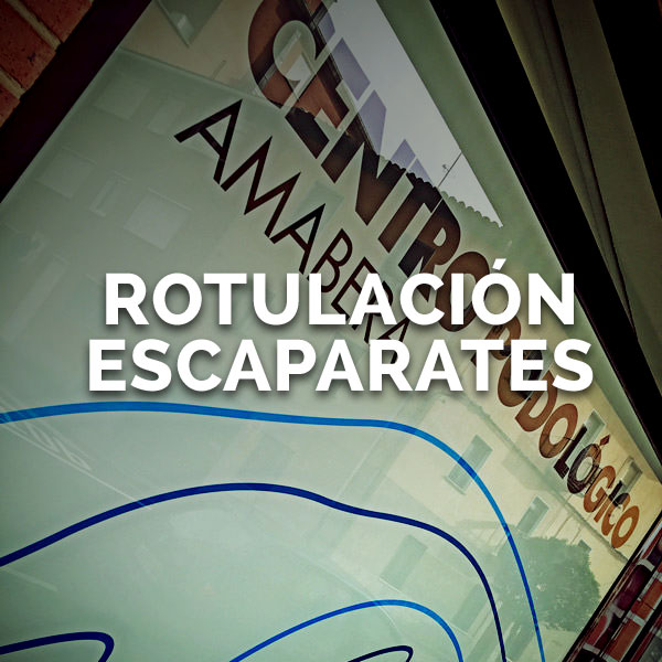 Rotulación escaparates - Curva Rotulación Integral Pamplona