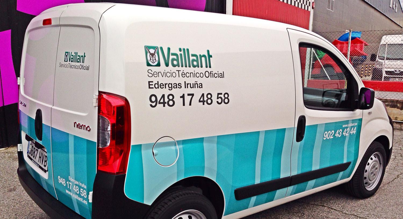 vaillant - Diseño y Rotulación de vehículos - Curva Rotulación Integral Pamplona