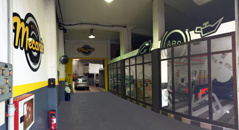 Motor Mecanic - Diseño y Rotulación para tu negocio - Curva Rotulación Integral Pamplona