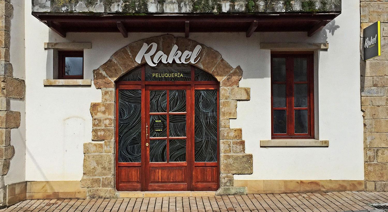 Peluquería Rakel - Diseño y Rotulación para tu negocio - Curva Rotulación Integral Pamplona